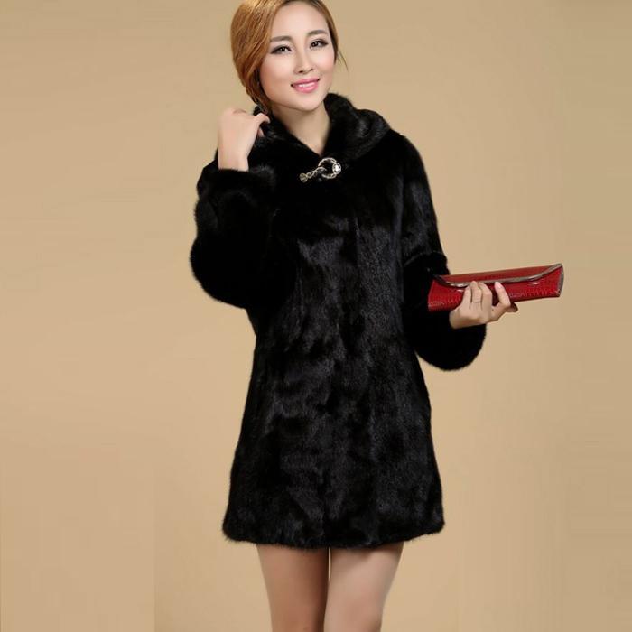 Nuovo 2018 Donne Plus Size Abbigliamento Donna 5XL 4XL Moda Medio Lungo Lusso Falso Pelliccia di Visone Cappotti Nero Bianco Faux Fur Coat