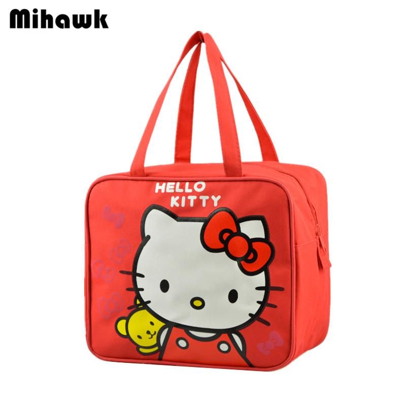 3c905565d Hello Kitty Cute Lunch Bag Women's Kid's Portable Handbag Travel Leisure  Storage Pouch Accessories Supplies Products