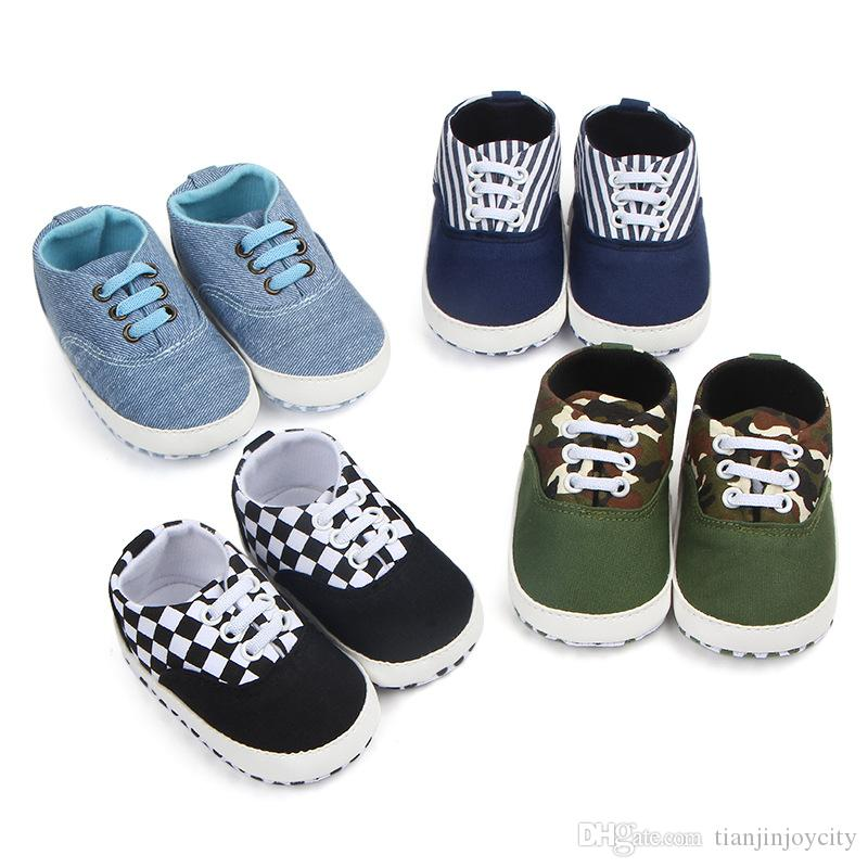 Fashion Baby Boy Shoes Non Slip Canvas Baby Shoes First Walkers