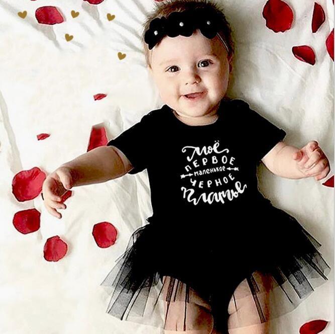 dcb79e093 2019 Toddler Girl Tutu Dress Little Baby Girls Cute Cotton Romper ...