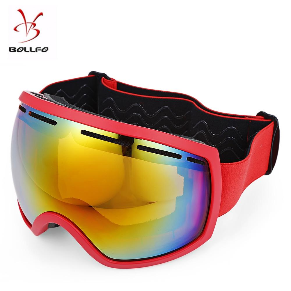 b5e97bdb6ef7 2019 BOLLFO Wide Vision UV Protection Anti Fog Skiing Goggles Snowboard  Mask Glasses Skiing Eyewear Windproof Snow Googles From Smile8z2