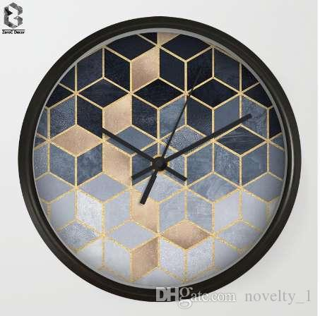 Modern Art Wall Clocks Geometric Cube For Bedroom Wall Decor, Desk Decorative Mute Quartz Clock Nordic Home Decoration