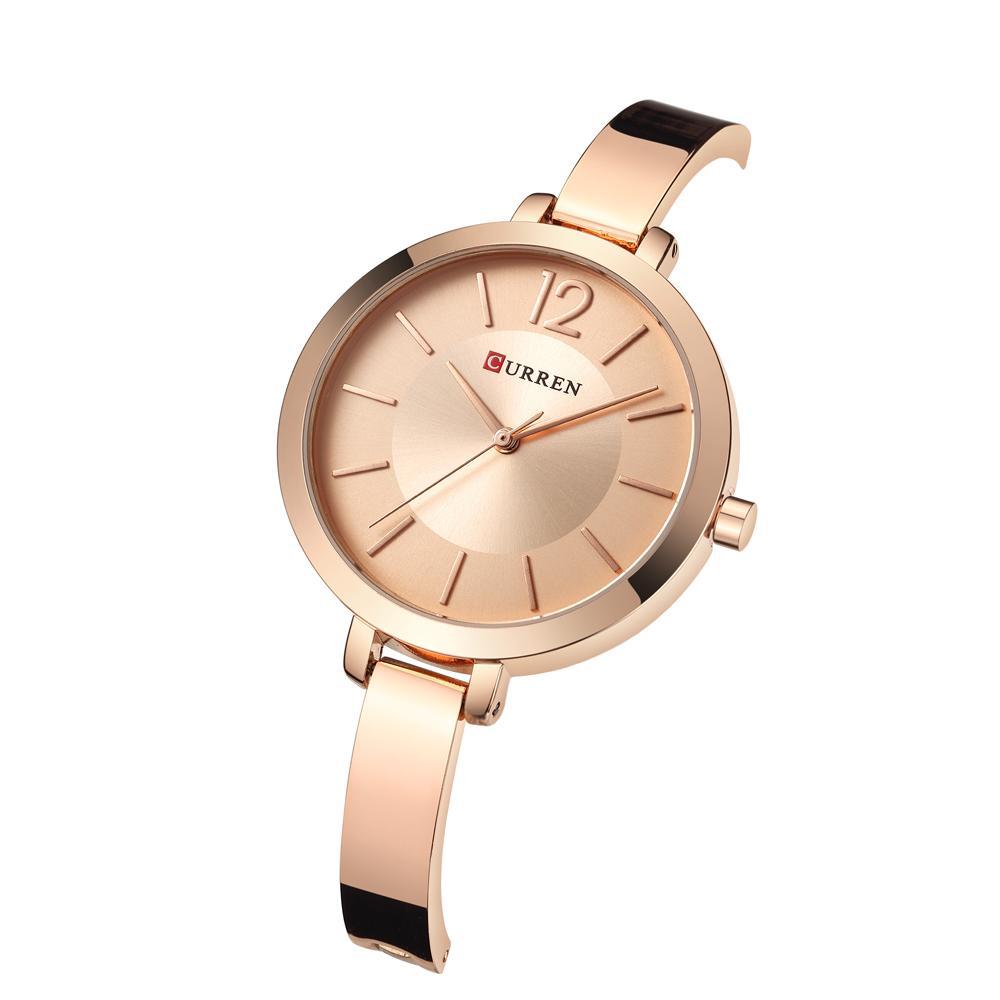 Großhandel Curren Rose Gold Armband Uhr Frauen Quarz Uhren Damen Top
