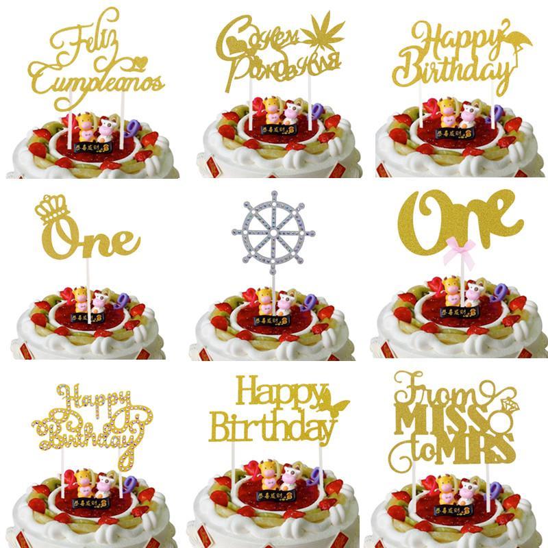 Grosshandel Russische Alles Gute Zum Geburtstag Kuchen Topper Krone