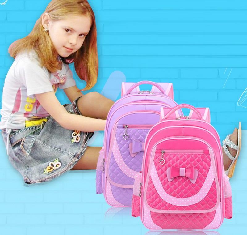 Sacchetti di scuola ortopedici dei bambini di alta qualità le ragazze Sacchetti di viaggio della borsa della scuola delle borse di cuoio dei bambini dei bambini dell'unità di elaborazione dei bambini