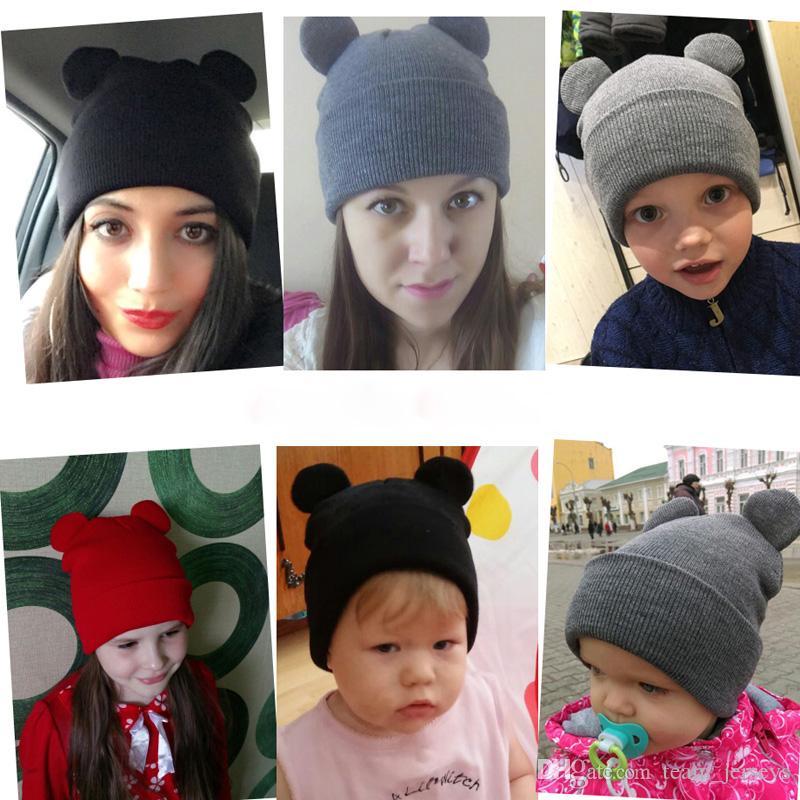 83fa978851bf1 Compre Mujer Gorras De Invierno Sombreros Para Mujeres Diablo Cuernos Oreja  Lindo Crochet Trenzado Tejidos Gorros Sombrero Sombrero De Punto Caliente  ...