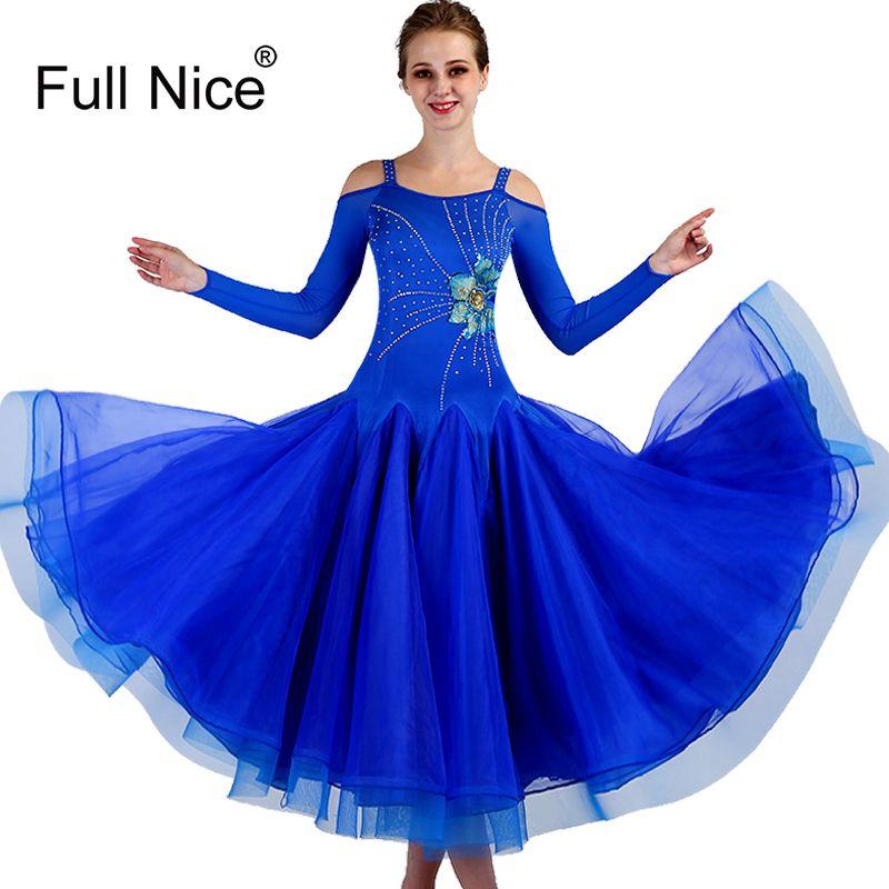 431911096 2019 Royal Blue Women Modern Dance Competition Costumes High Quality New Ballroom  Dance Dress Rhinestone Tango Waltz Dancing Dress From Lemon888, ...