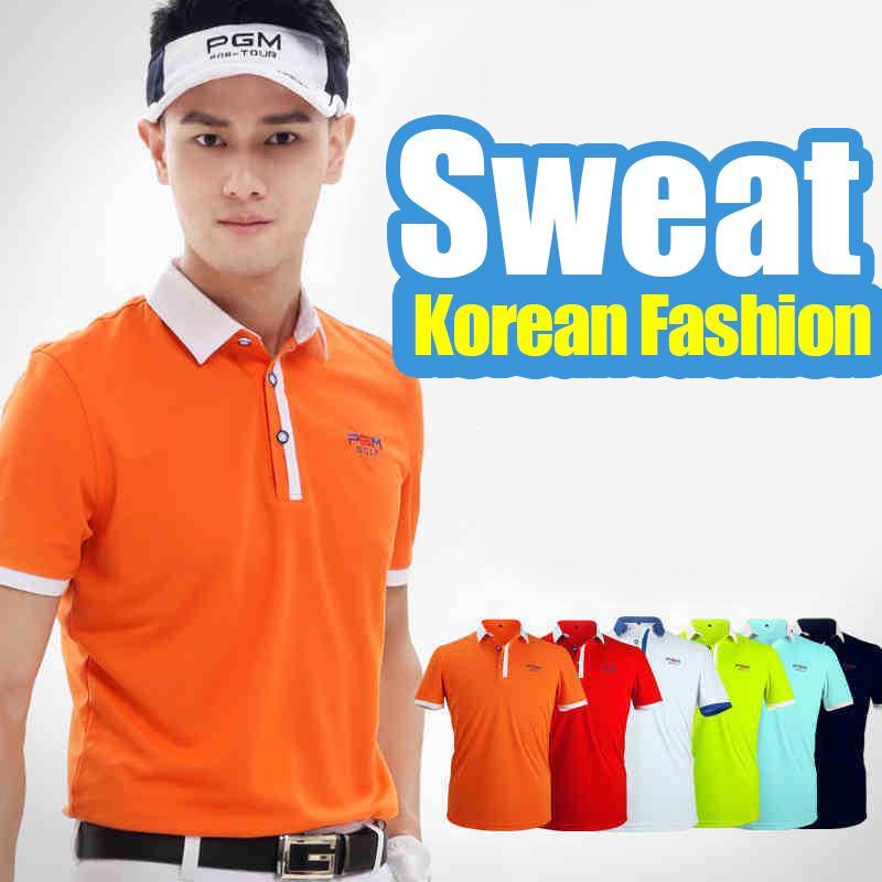 41c2995c98a 2019 New Mens Tops Short Sleeve Golf T Shirts Sportwear Golf Polo Summer  Garment Mens Trainning Shirt Elastic Male Shirts Breathable From Onecherry