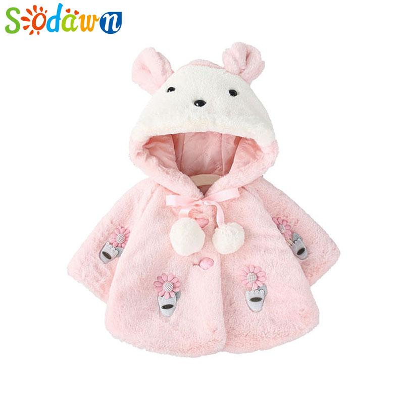 22c9f72c76c6a Sodawn Baby Girl Clothes Autumn Winter Outside Shawl Baby Short Coat  Princess Hair Sweater Children Clothing Girls Coat0 3Y Toddler Boy Jacket  Youth Boys ...
