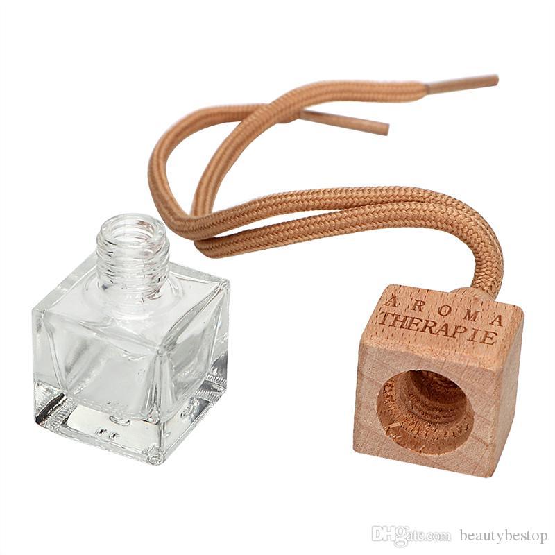 Araba Oda Parfümü Dekorasyon Esansiyel Yağı Parfüm Boş Şişeleri Temizle asın Halat pandent Aromaterapi difüzör Şişeleri 6ml Sıcak Satış