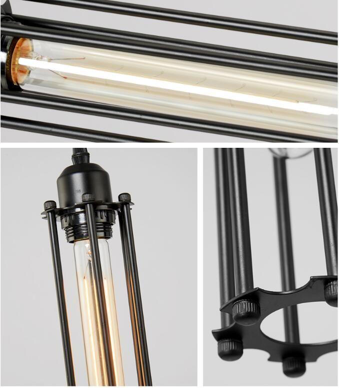 Creative Iron Pendant Light Retro Black One Head Hanging Lamp American Industrial E27 Holder For Dining Room Kitchen Lighting