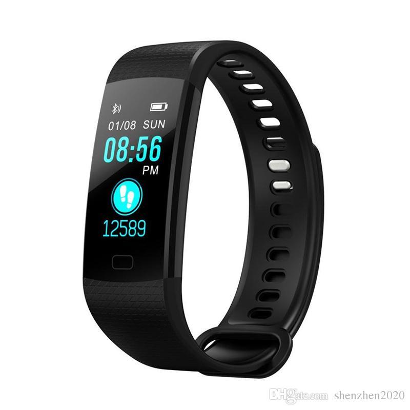 Y5 Smart Armband Armband Fitness Tracker Farbdisplay Herzfrequenz Schlaf Schrittzähler Sport Wasserdicht Activity Tracker für iPhone Samsung Hot