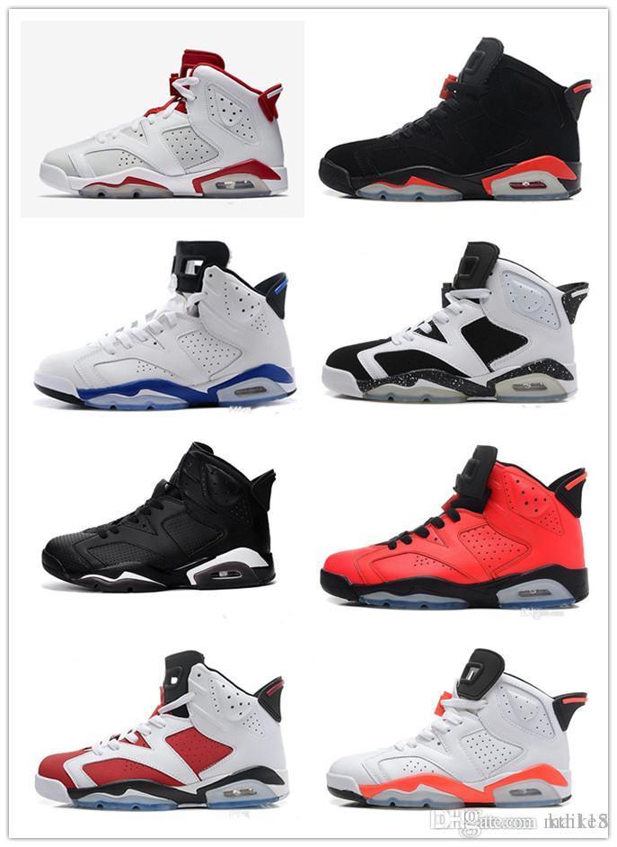 5aa220e97e4684 Best 6 6s Men Women Basketball Shoes Unc Black Cat Hare Carmine White  Infrared Angry Bull Sport Blue Oreo Olympic Maroon Chrome Sneaker Baseball  Shoes ...