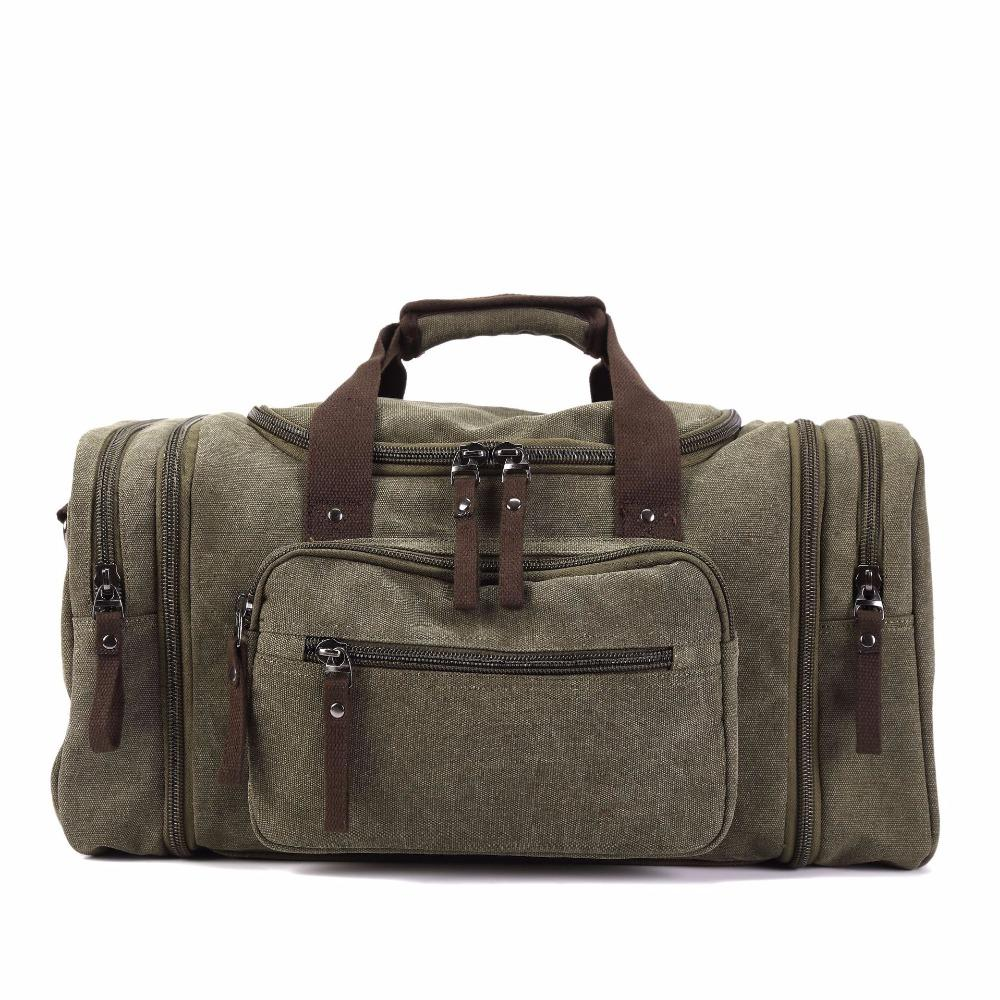New Travel Bag Handbag Large Capacity Men And Women Casual Canvas Female Shoulder Splash Proof Portable Wear Resistant Bags Cheap