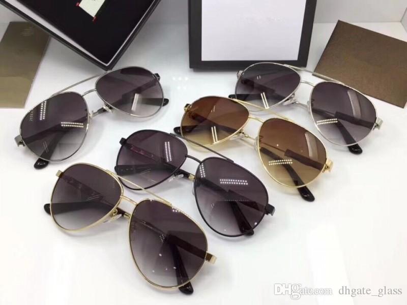 Box Pcs Metal 1 Cat With Wholesale Eye Glasses Mens Tea Grey Lens Frame Nylon Designer Factory Sunglasses Full BeCxWdro
