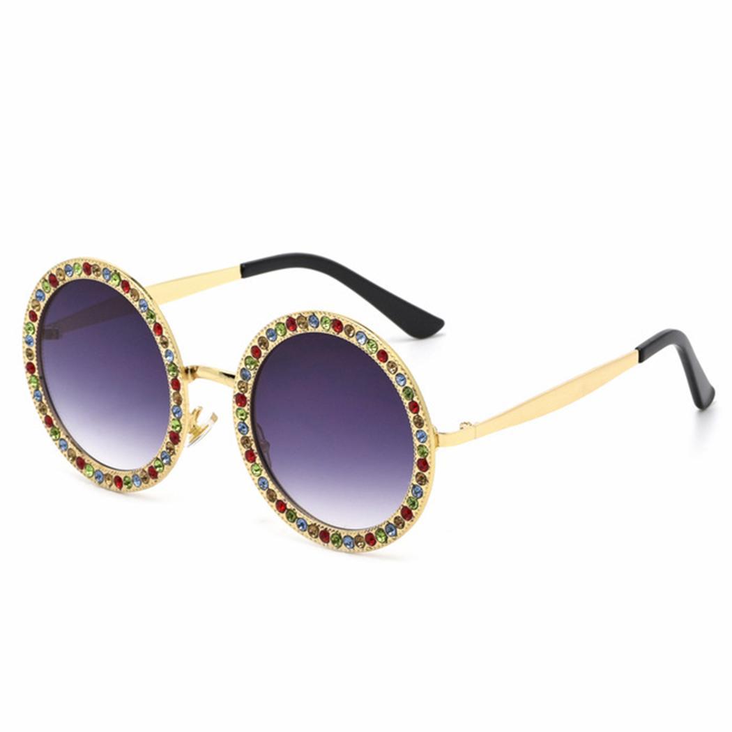 202b4337123 Luxury Rhinestone Round Sunglasses Women Brand Designer Oversized ...