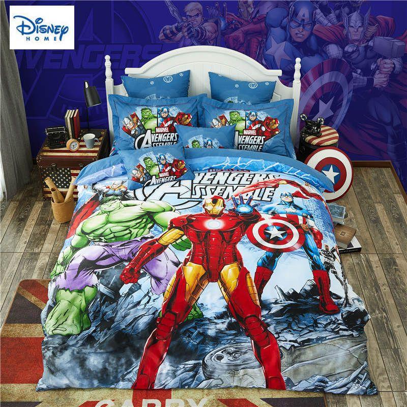 Marvel Avengers Bedding Set For Kids Comforter Duvet Covers Twin