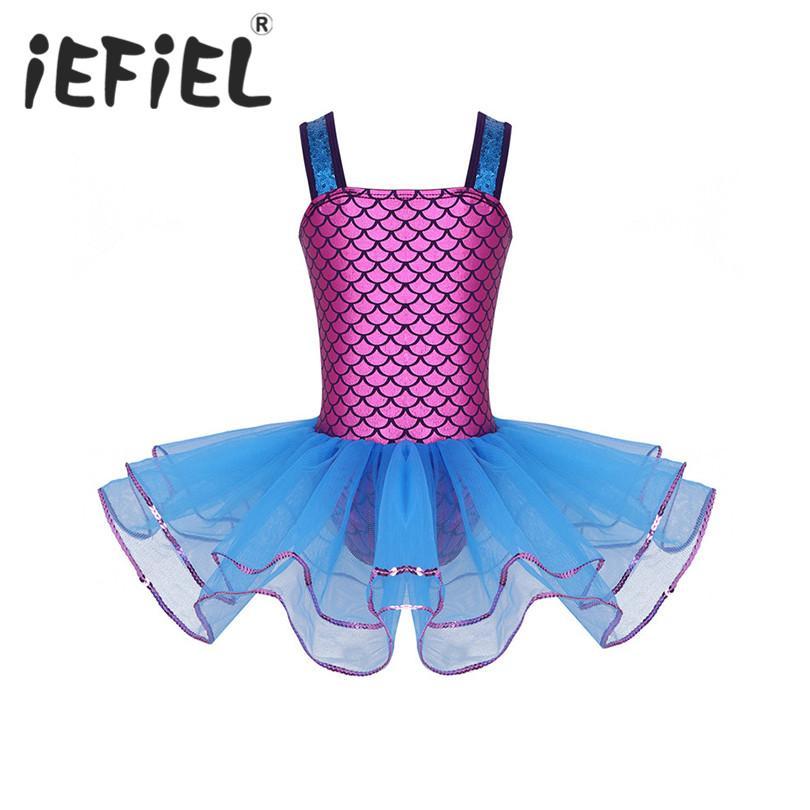 4da00c6c2 2019 IEFiEL Child Ballet Dance Dancing Tutu Dress Girls Mermaid ...
