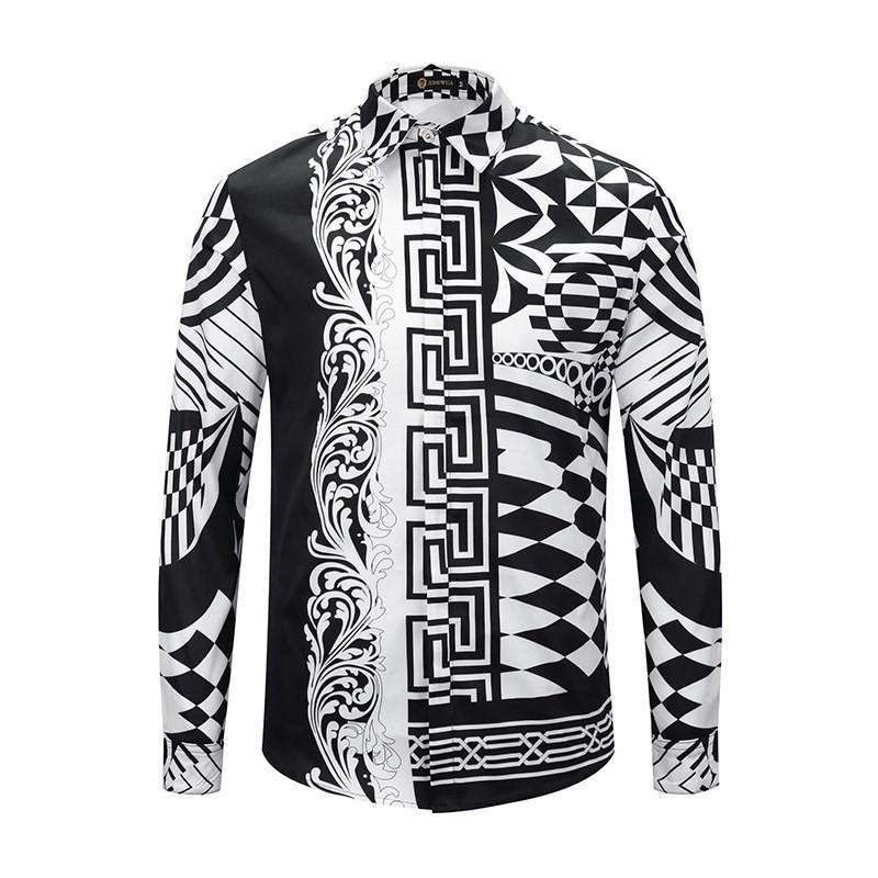 de7ef9ed 2019 Brand Medusa Men'S Long Sleeved Shirt Men'S Casual Shirt Flower  Printing Business Slim Harajuku Silk Shirt From Zy100862, $32.49 |  DHgate.Com
