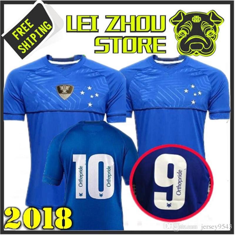 Compre 2018 2019 Camisa De Futebol CRUZEIRO 18 19 DE ARRASCAETA FRED  ROBINHO THIAGO NEVES Camisa De Futebol Cruzeiro Home Clube Brasileiro Camisas  Flamengo ... 1a7493244da41