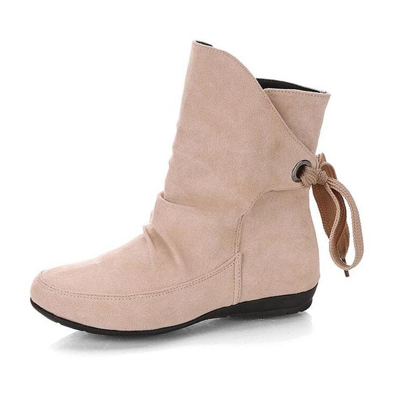 1f7736478 Compre Nuevo 2018 Botas De Moda De Invierno Para Mujer Botas Calientes Mujer  Plataforma Bottes Femme Negro Nubuck Zapatos De Cuero Stretch Botines  Feminina ...