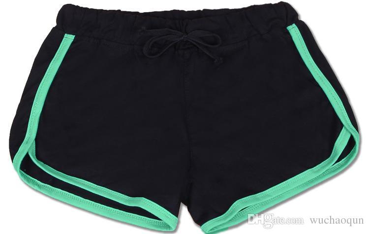 7 farben baumwolle yoga sport shorts gym freizeit homewear fitness hosen kordelzug sommer shorts strand laufen übung hosen