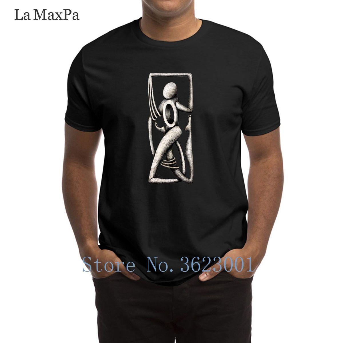 Knitted Letter T Shirt Man Open Heart Runs T Shirt For Mens