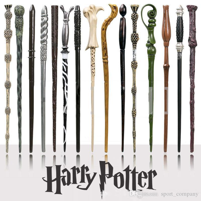 "18 Styles Harry Botter 14.5"" Lord Voldemort Resin Magic Wand Cosplay Props Creative Birthday Gift with Box"