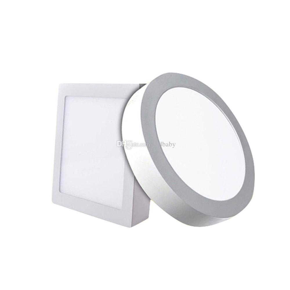 Led panel lights 6w 12w 18w 25w round square led surface mounted dimmable led downlights lighting 110 240v