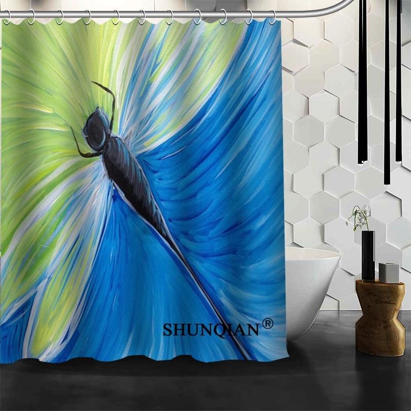 Waterproof Bathroom Curtains Modern Dragonfly Shower Curtain Polyester Bath Screens Customized UK 2019 From Sheiler 5206