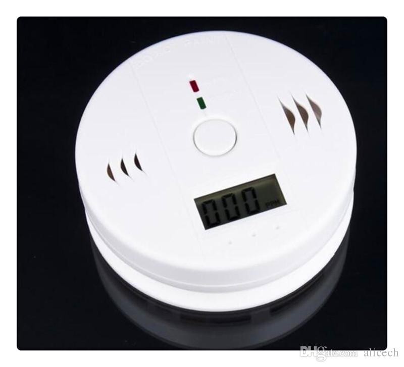 CO Carbon Monoxide Detector Alarm System For Home Security Poisoning Warning Alarms Tester LCD With Retail Box