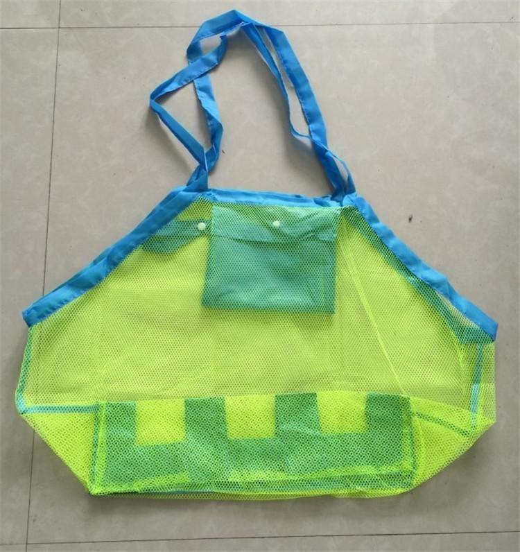 Folding Baby Child Toy Beach Storage Bags Mesh Bag Child Bath Toy Storage Bag Cases Net Baskets for outdoor Hanging Big Volume mk0362