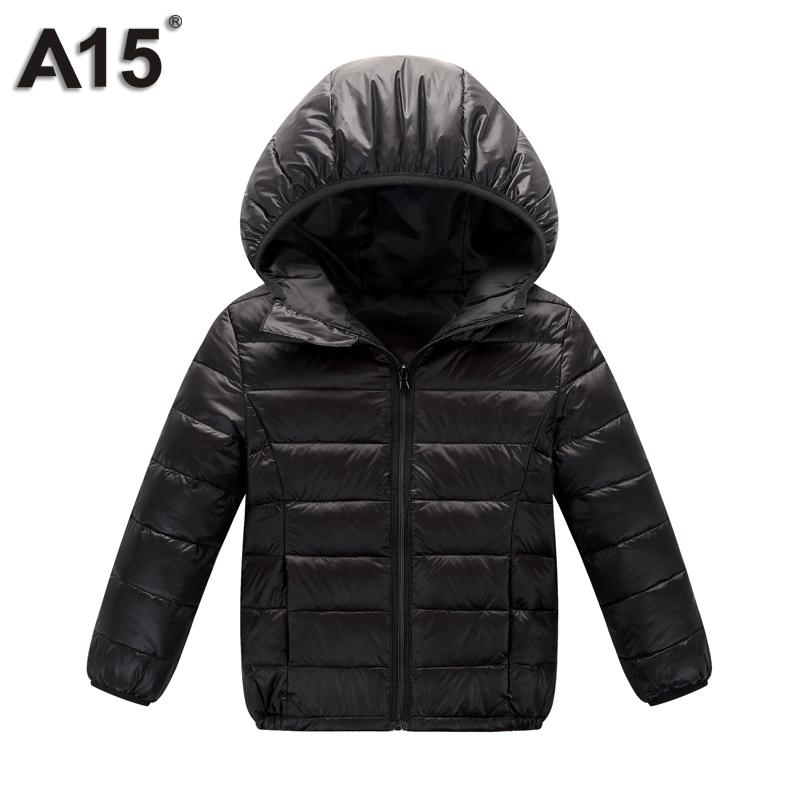 e8c01775e963 A15 Children Outerwear Warm Coat 2018 Girl Down Spring Autumn Winter ...