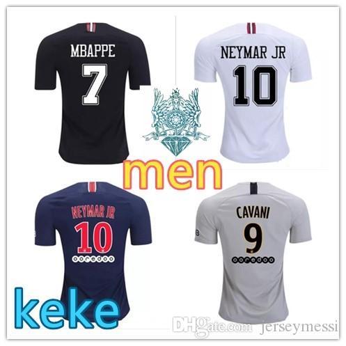 Camiseta De Fútbol De Tailandia Maillots PSG 2019 Paris MBAPPE Camiseta De  Saint Germain 18 19 Survetement Fútbol Kit Campeones Camiseta Hombres Niños  Por ... 70eb666f66f1a