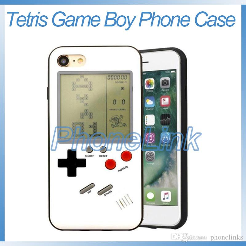 Tetris game phone case with game boy retro games anti cracked prtection  case for iphone X 8 7 6 plus mobile phone case