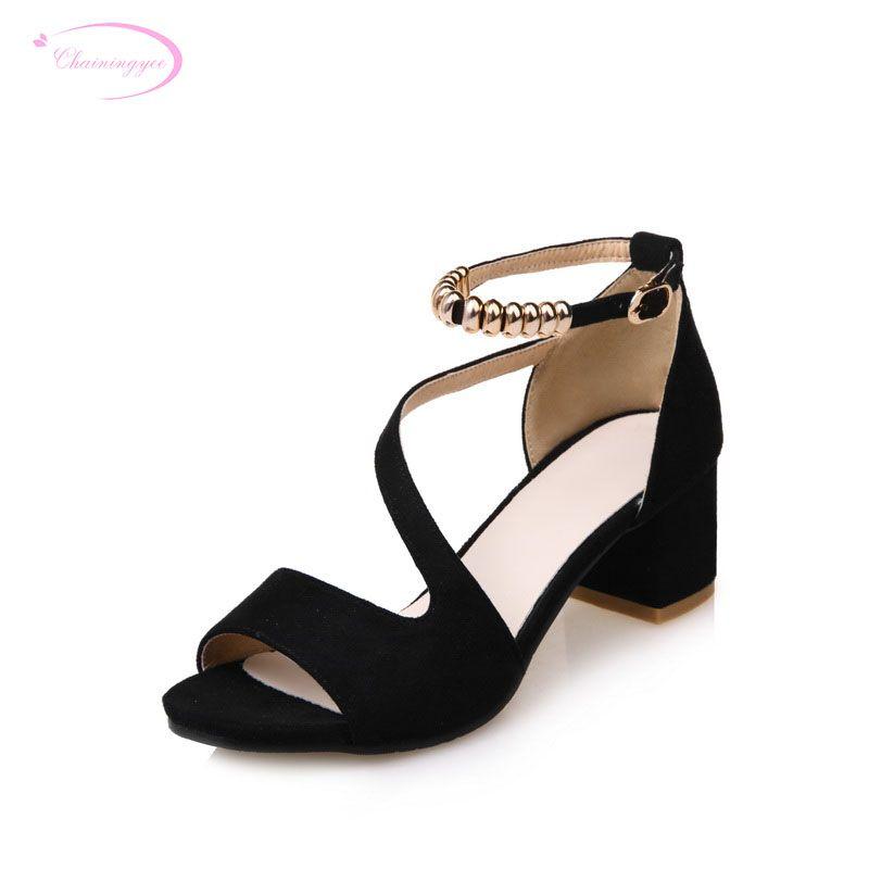0b41ab9690fe Wholesale Party Sexy Peep Toe Summer Sandals Metal Decoration Belt ...