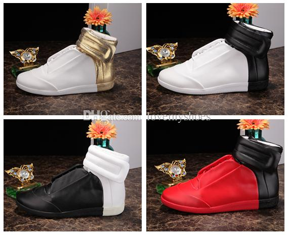 4a14dc2788890 Fashion Designer High Top Shoe Man Casual Name Brand High Quality Hook&Loop  Mixed Colors Flat Cheap Sneaker Outdoors Shoes Male Size 39-46