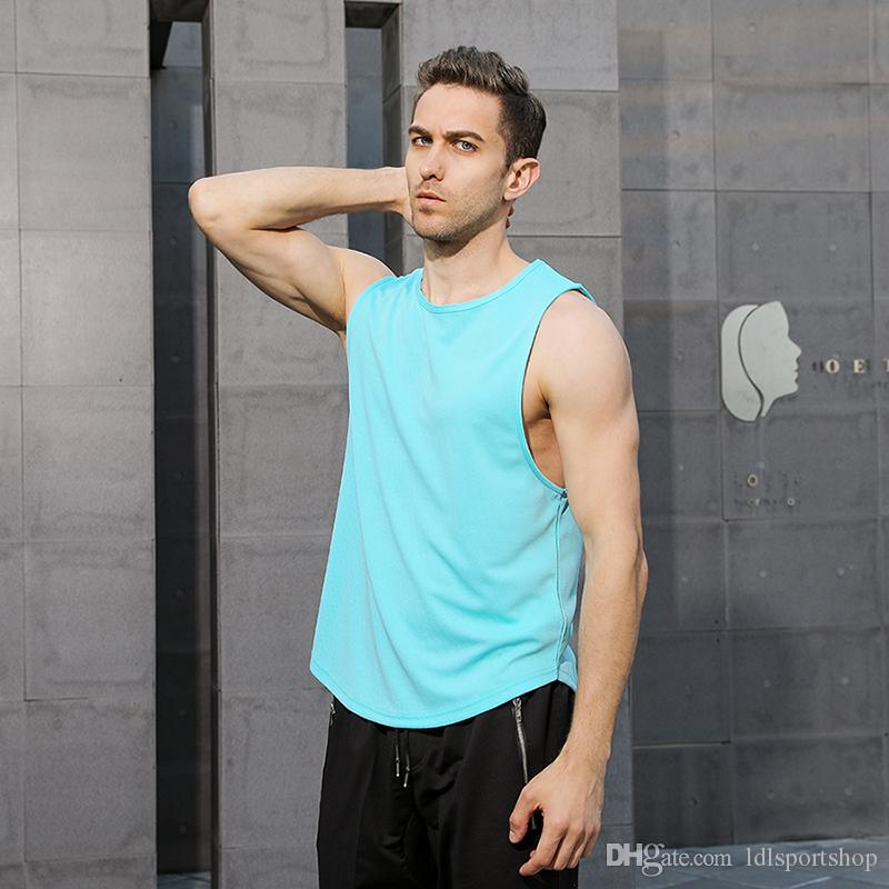 fc44c7d565ed0b 2019 New Quickly Dry Mens Running Shirts Compression Tights Gym Tank Top  Fitness Sleeveless T Shirts Sport Best Running Vest From Ldlsportshop