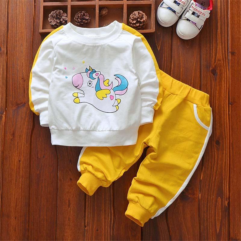 c47587587511c girls clothing sets new 2018 autumn spring children girls sport suit kids  cartoon sweatshirts+pants little girls tracksuit set