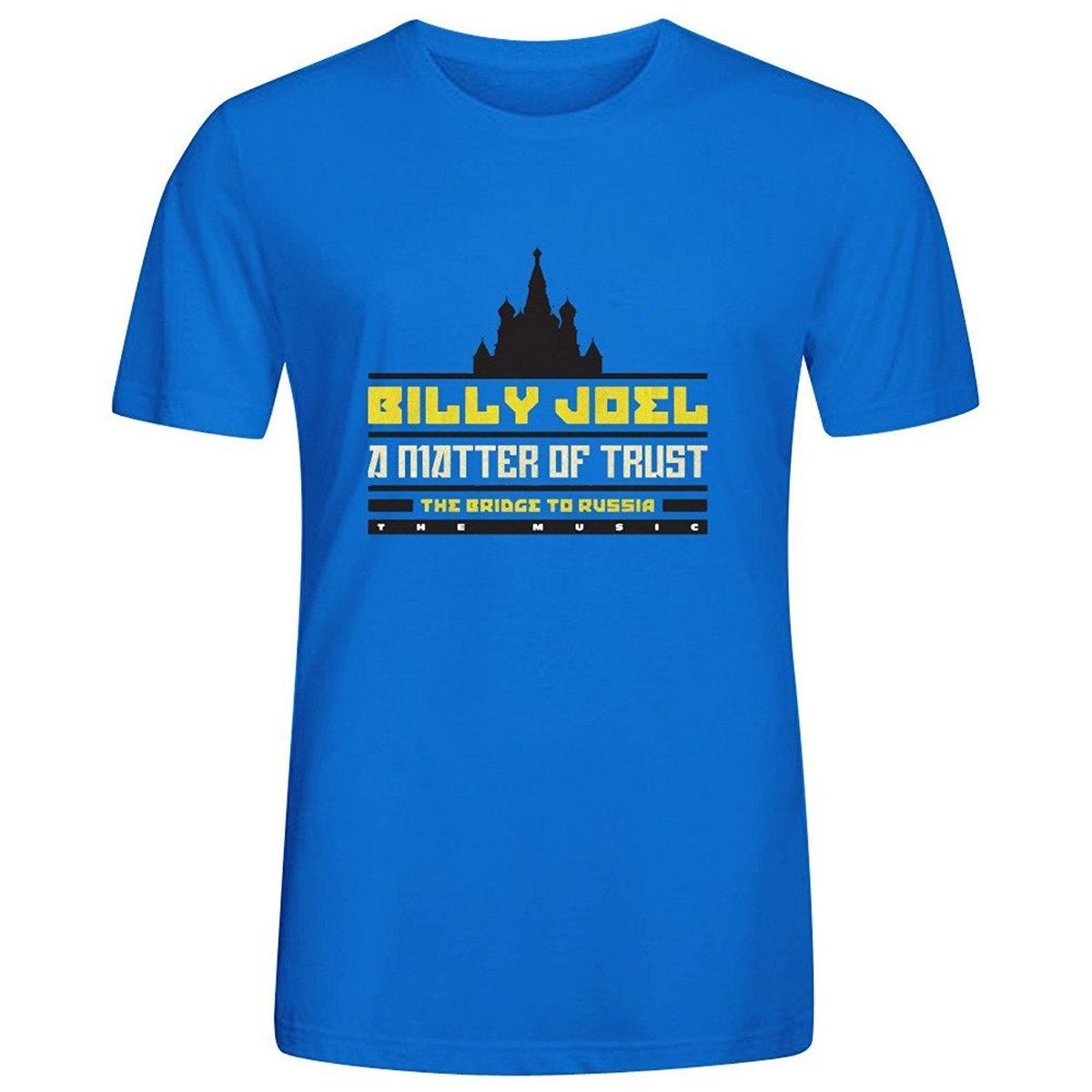 Billy Joel A Matter Of Trust The Bridge To Russia T Shirts For Men Crew Neck