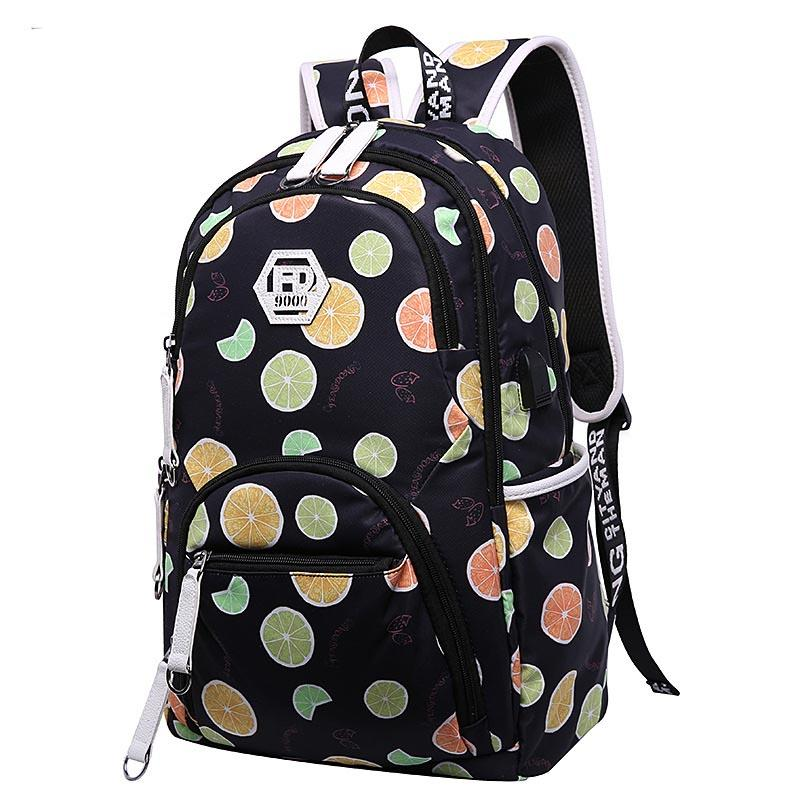 84df3c6422 Cute Kids Backpack Child Bag Waterproof Fruit Printing Backpack For Children  School Bags For Teenage Girls Schoolba Bags For School School Backpack From  ...