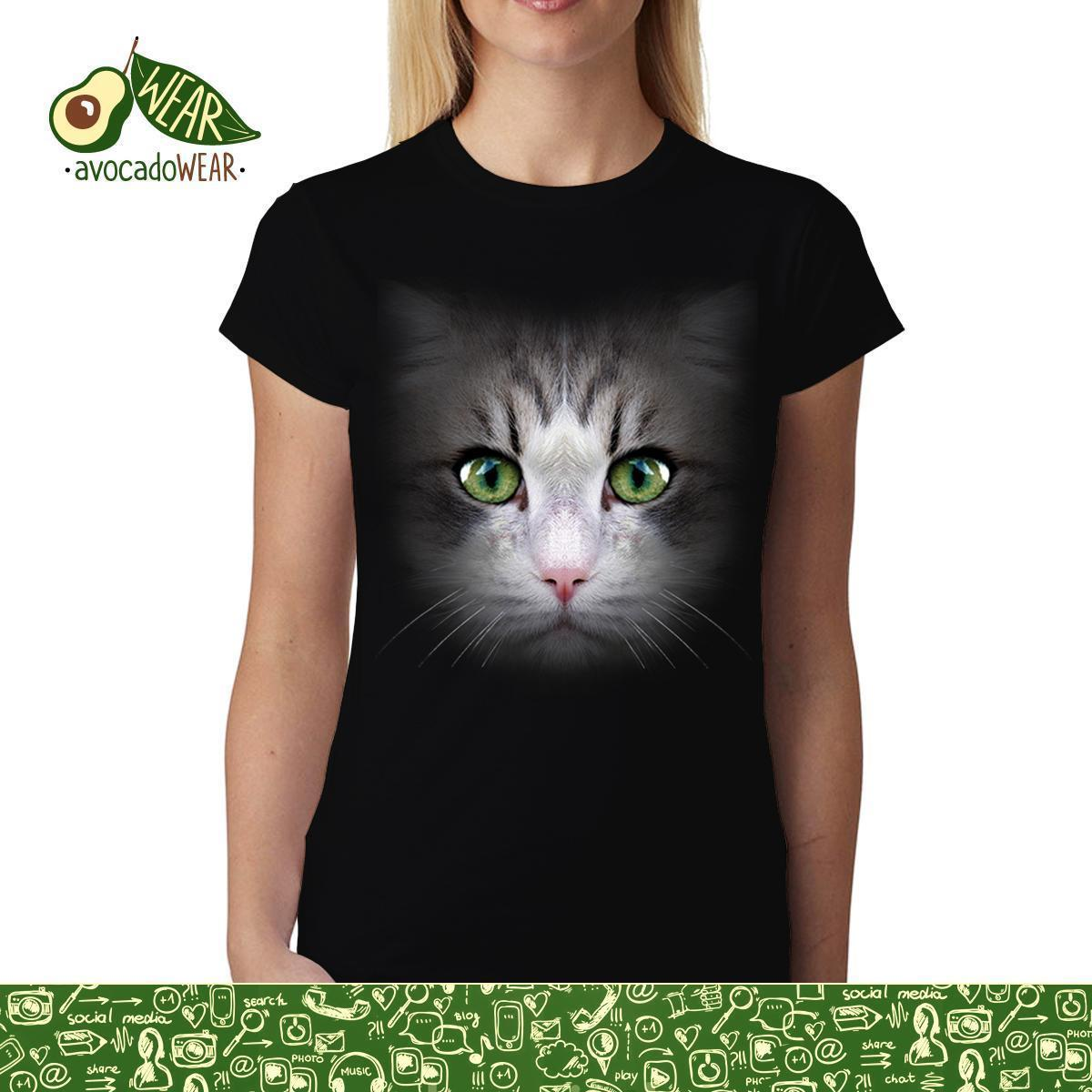 8c313acf7ebe Cat Face Green Eye Animals Women Men T Shirt S 3xl T Shirts Funny Tops Tee  New Unisexy High Quality Casual Printing 100% Cotton White Shirt Tee Shirts  From ...