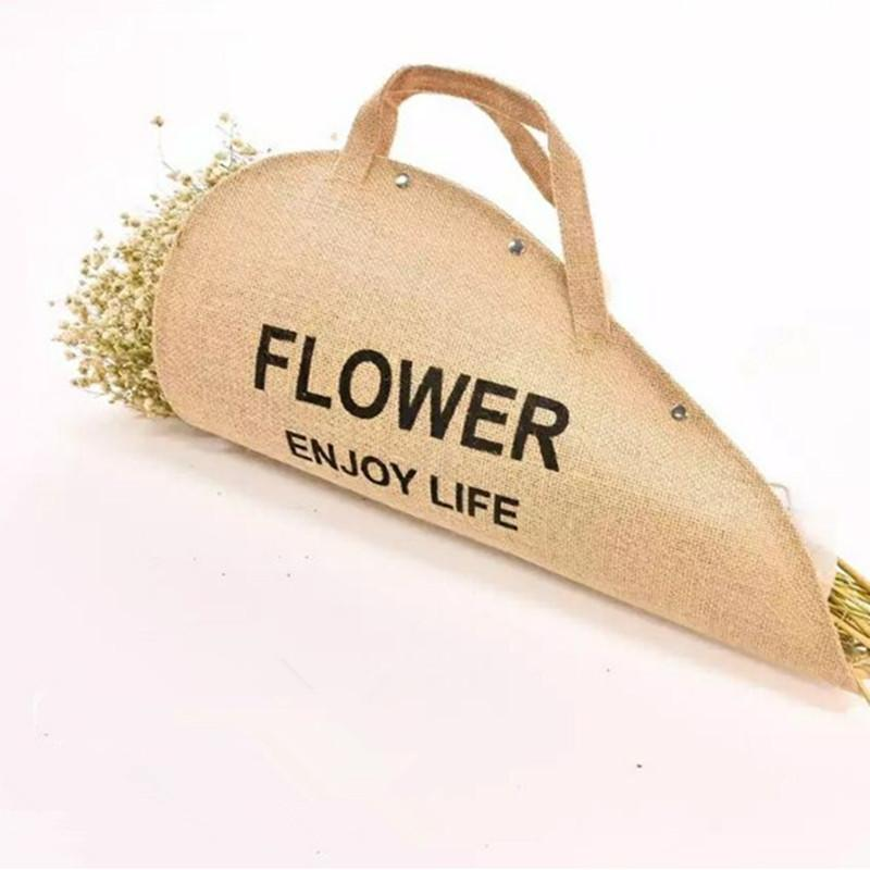 5pcs Flower Gift cloth Handbags Bouquet Packing Box Flower Portable Case Packaging Decoration free shipping