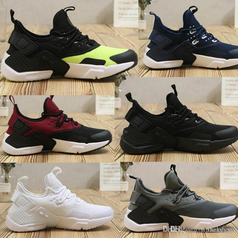 b9c3285b09c Compre Nike Air Max Adidas Yeezy Vapormax Off White Novo Design Air Huarache  6 Homens Tênis De Corrida Barato Preto Branco Preto Tênis Dos Homens  Huaraches ...