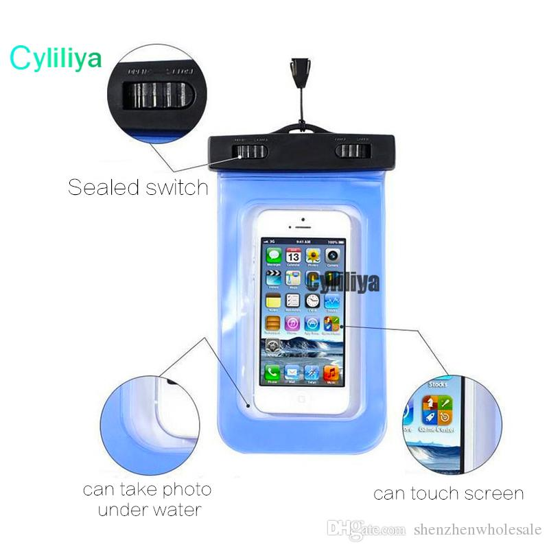 Hot sale outdoor PVC plastic dry case sport cellphone protection universal waterproof bag for smart phone