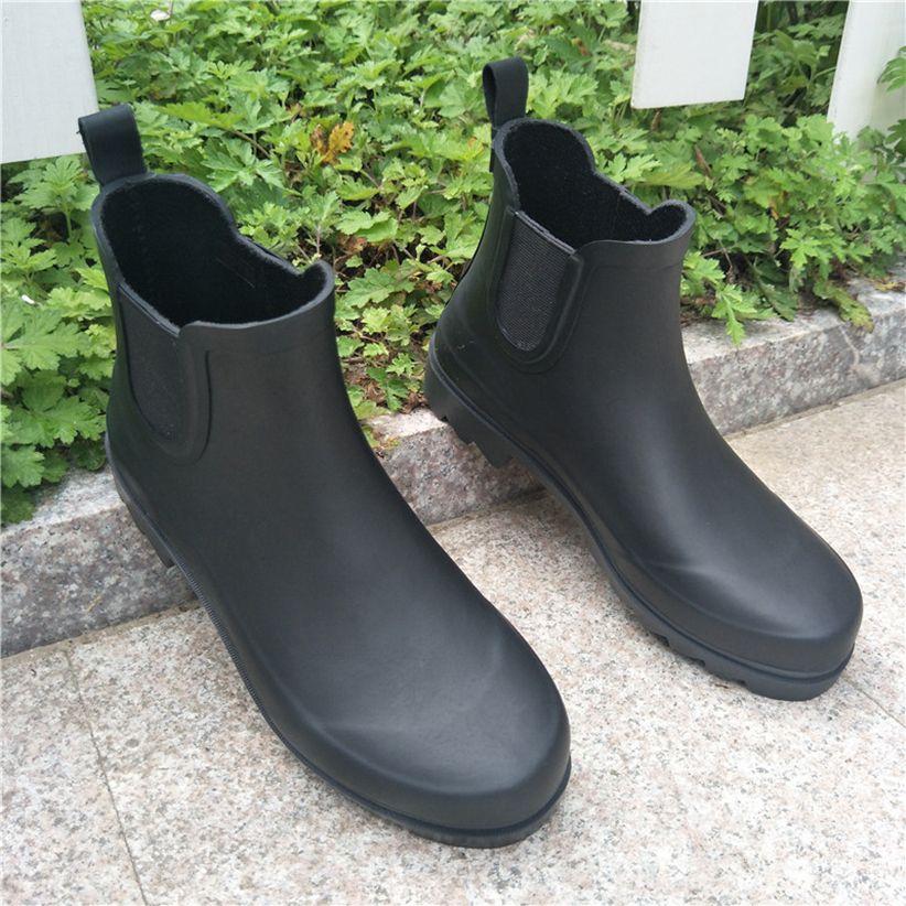 aaa7441f95a Fashion Short Rainboots Waterproof Boot Rubber Rainboots Water shoes Rain  boots for Men and Women DHL Free