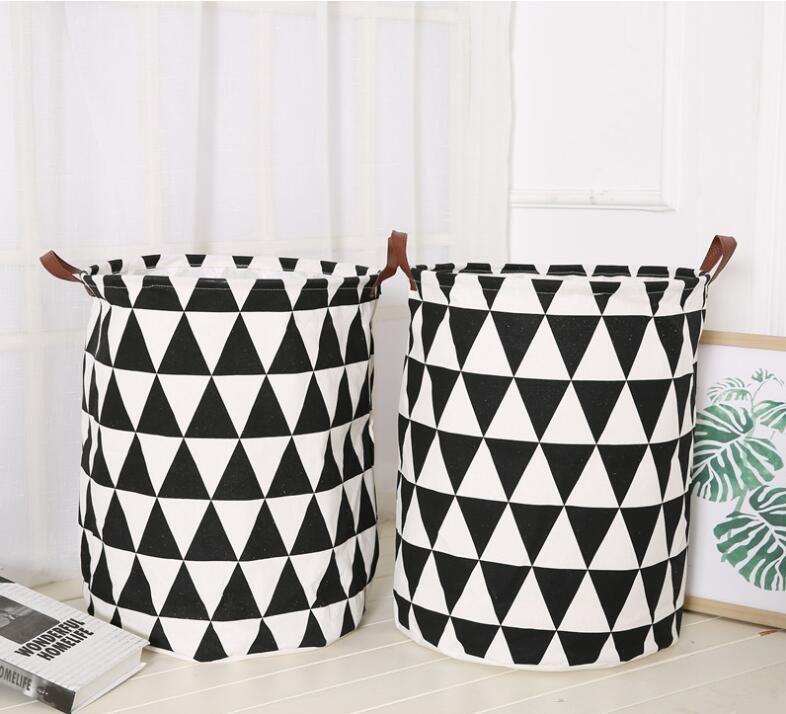Ins Storage Baskets Bins Kids Room Toys Storage Bags Bucket Clothing  Organization Canvas Laundry Bag free shipping