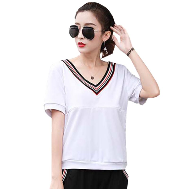 a1f8cd514 2019 Summer Short Sleeve Nursing Tops T Shirt Breast Feeding T Shirts  Striped V Neck Casual Loose Solid Top Maternity Nurse Clothes From Breenca,  ...