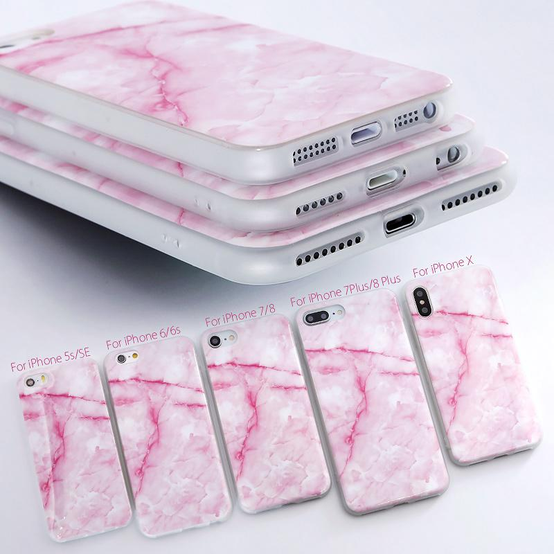 Granite Scrub Marble Stone image Painted Silicone Phone Case For iphone x  5s 5 SE 6 6s 8 6/7/8 plus case