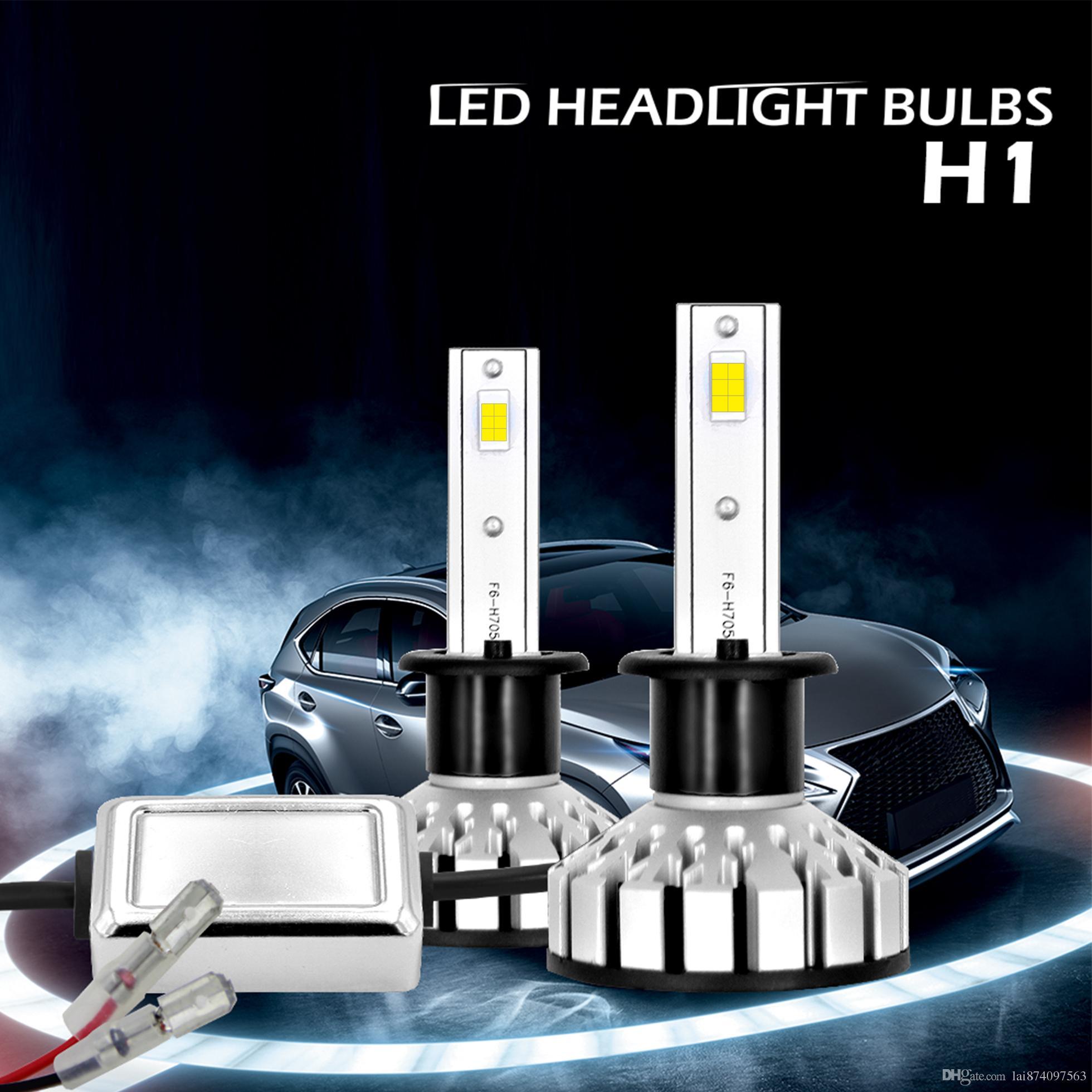 R8 Auto Car Led Bulb H4 H1 H3 H11 9005 9006 H7 LED Headlight Fog Light Lamp  6000K White 12V automobiles Good Quality